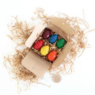 Easter eggs in kraft box